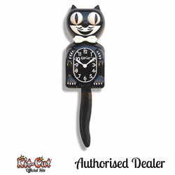 Black Gentleman Kit Cat Clock