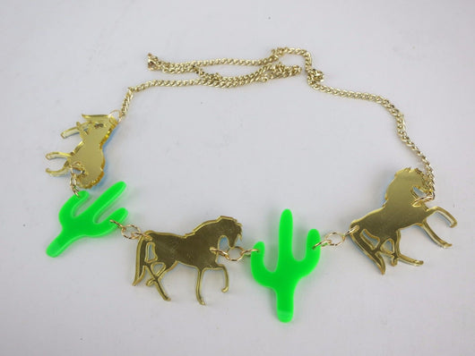 Acrylic Western Necklace