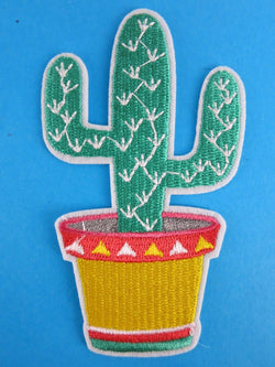 Cactus Iron On Patch Western