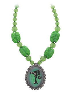 Kreepsville 666 Zombie Brain Cameo Necklace