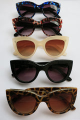 Cat Eye Sunglasses PinUp 50s Rockabilly Cats Red Blue Ivory Leopard Black Cleo