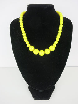 Counter Culture Gumball Necklace - Petit Yellow