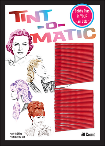Tint-o-Matic Bobby Pins in Red