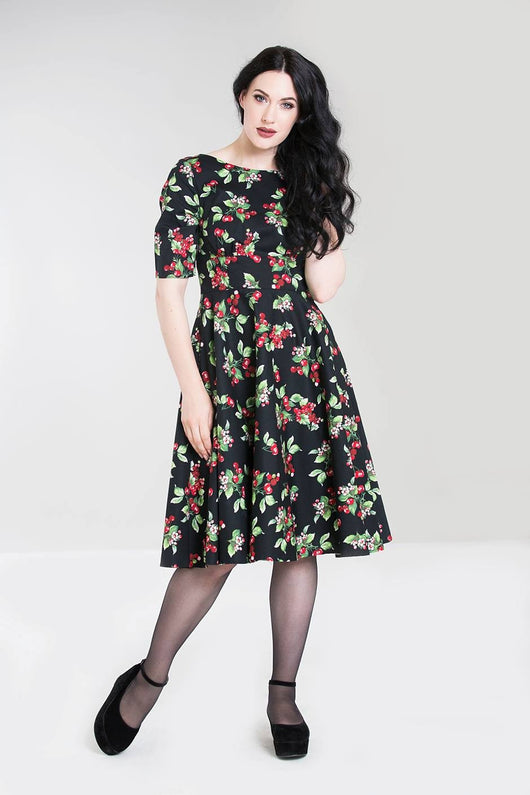 Hell Bunny Cherie Cherry Dress - X-Small to 2X-Large