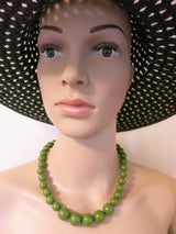 Gumball Necklace - Olive Green Petit