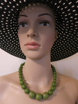 Gumball Necklace - Olive Green Sybill