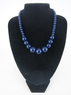 Gumball Necklace - Navy Blue Sara