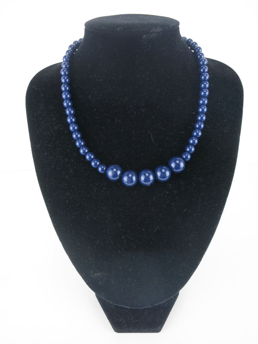 Gumball Necklace - Navy Blue Petit
