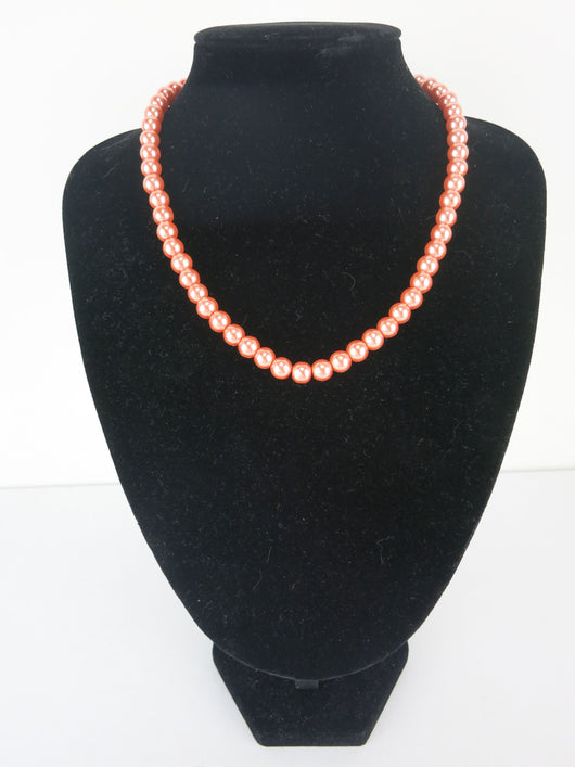 Bead Necklace - Grace in Orange