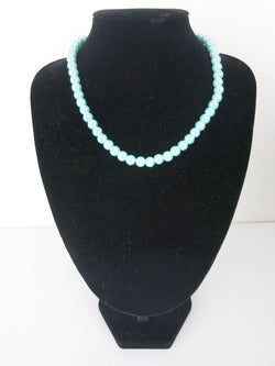 Bead Necklace - Grace in Light Blue