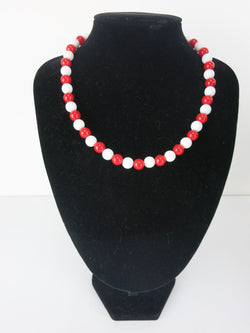 c14e9661868 Counter Culture Republic  King Snake  Bead Necklace in Red   White