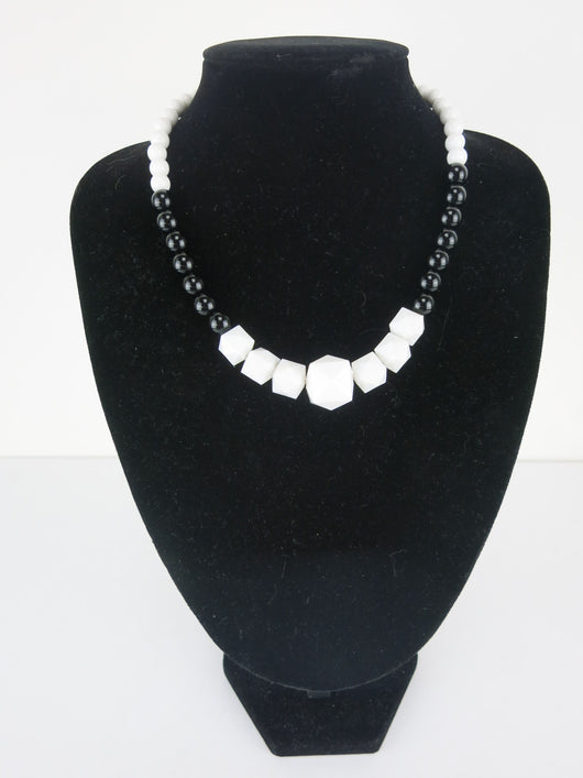 Counter Culture Republic Black and White Deco Necklace