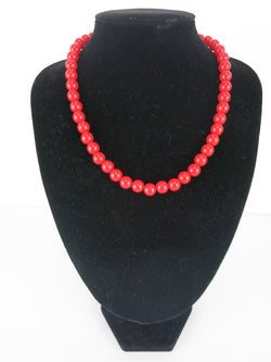Counter Culture Republic 'Lauren' Bead Necklace in Red