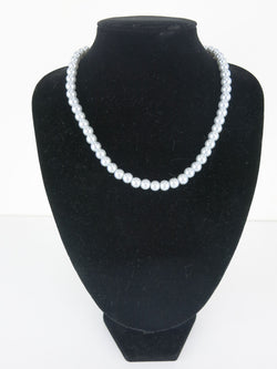 Bead Necklace - Grace in Silver