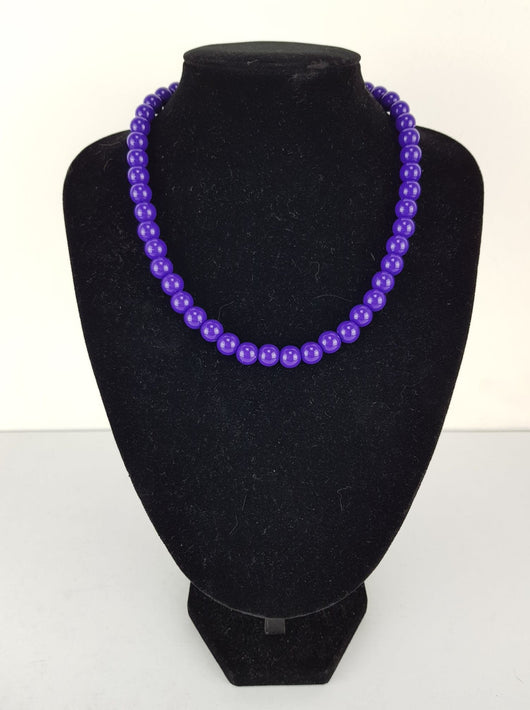 Counter Culture Republic 'Lauren' Bead Necklace in Purple