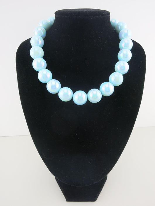Counter Culture Republic - Chunky Lustre Blue Necklace