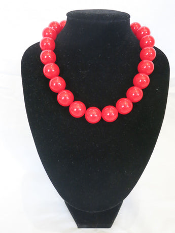 Counter Culture - Chunky Red Necklace