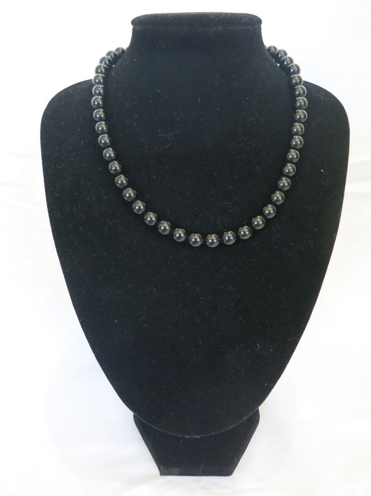 Counter Culture Republic 'Lauren' Bead Necklace in Black