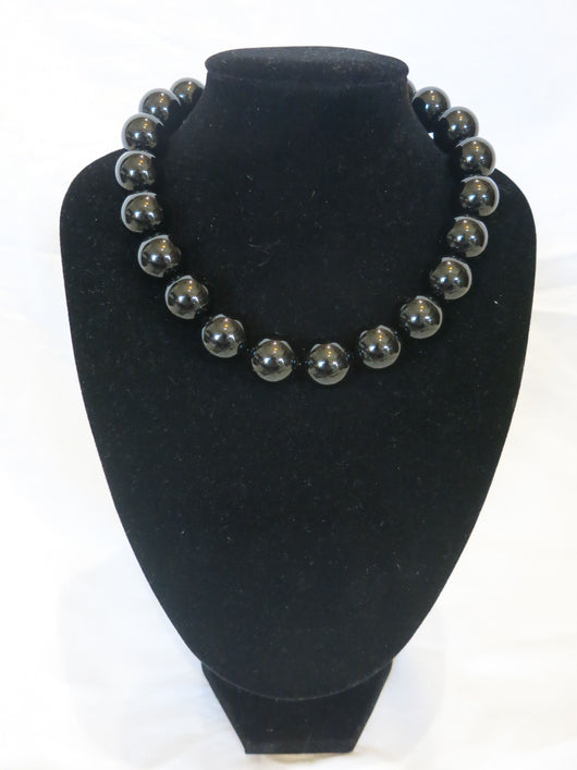 Counter Culture - Chunky Black Noir Necklace
