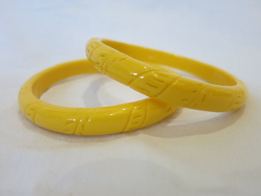 Bangle - Yellow Fern