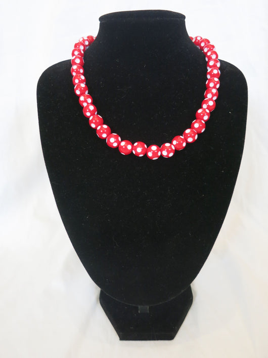 Counter Culture Republic - Red & White Polka Dot Necklace