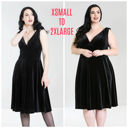 Hell Bunny Melina Dress X-Small to 2X-Large in Black