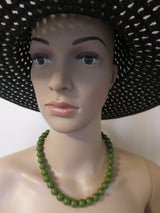 Gumball Necklace - Olive Green Greta