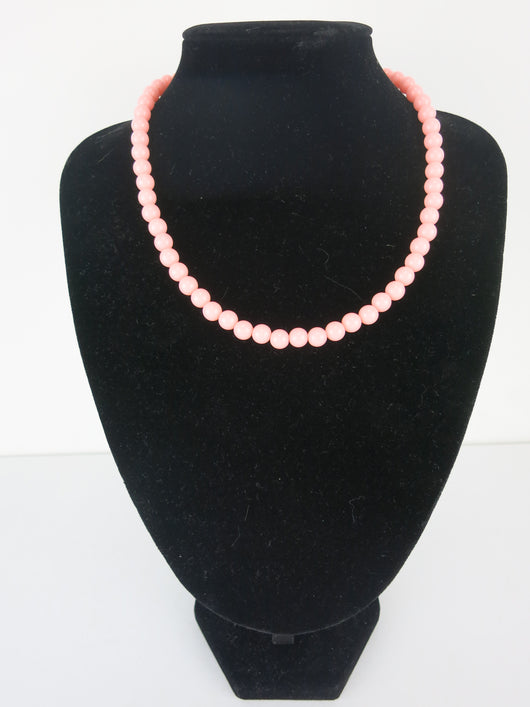 Counter Culture Republic 'Lauren' Bead Necklace in Pastel Orange