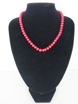 Bead Necklace - Grace in Red
