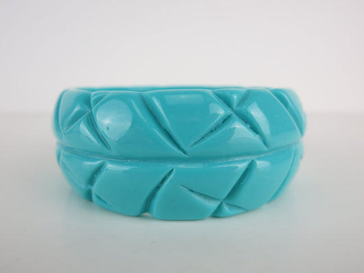 Aqua Carved Bangle