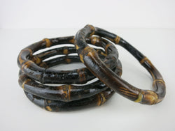 Bamboo Bangle - Two-Tone Dark Varnish