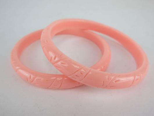 Bangle - Peachy Pink Fern