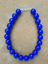 Counter Culture Republic - Chunky Royal Blue Necklace