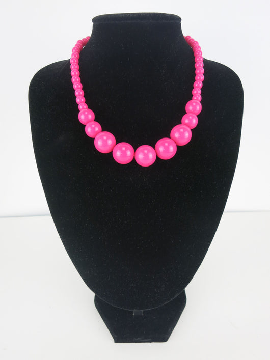 Gumball Necklace - Grande Dark Pink