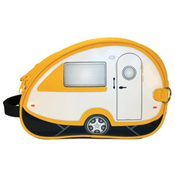 Yellow Retro Teardrop Caravan Toiletry Bag