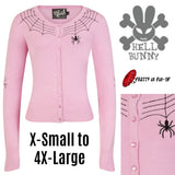 Hell Bunny Spider Cardigan Pink XSmall - 4XLarge