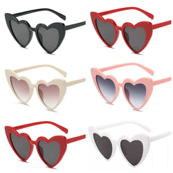 Deadly Heart Sunglasses - Black, White, Red, Pink or Cream