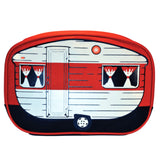 Red Retro Caravan Toiletry Bag