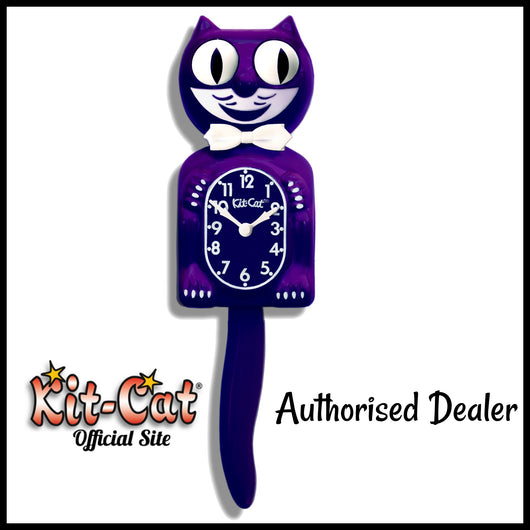 Ultra Violet Gentleman Kit Cat Clock