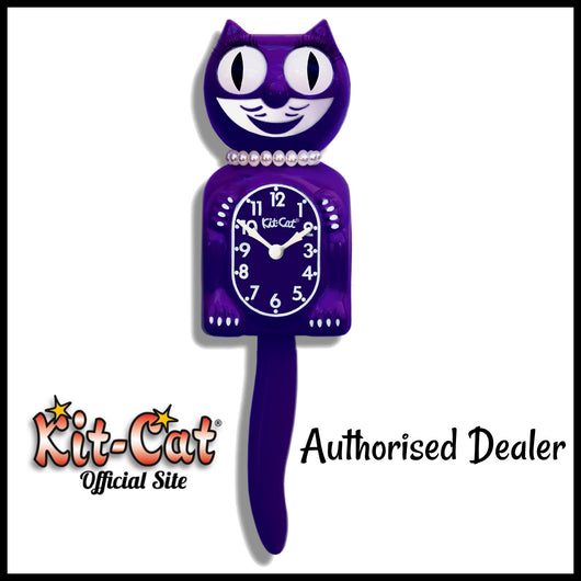 Ultra Violet Lady Kit Cat Clock