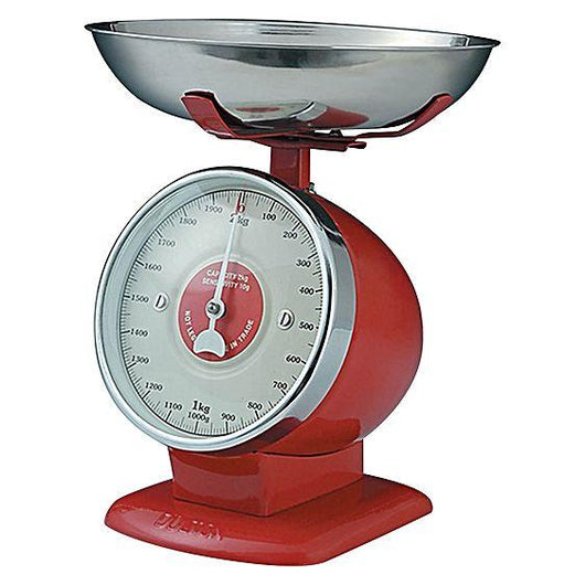 Dulton Red Streamline Kitchen Scales - Postage Included