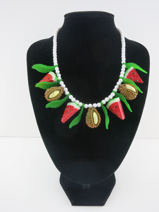 Counter Culture Republic - Watermelon & Durian Necklace
