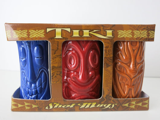 Tiki Shot Glass Set of 3