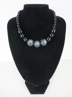 Counter Culture - Triple Spiderweb Gumball Necklace