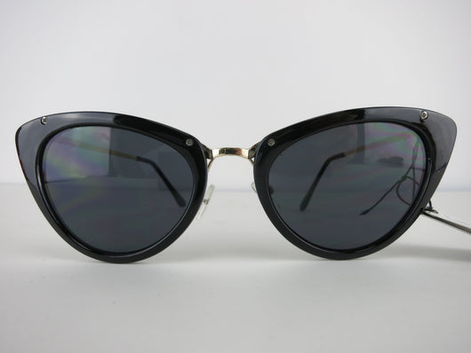 Cats Eye Sunglasses - Black Bella