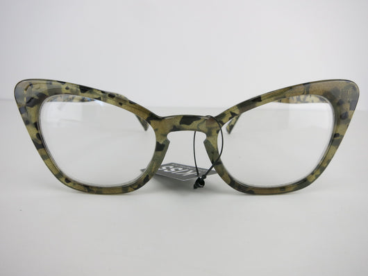 Clear Lens Glasses - Grey Tortiseshell Bianca