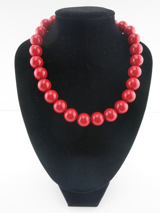 Counter Culture Republic - Chunky Blood Red Necklace