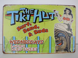 Tiki Hut Bar Tin Sign