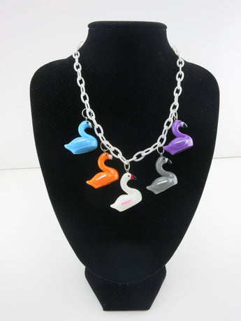 Counter Culture Republic - Five Flamingos Necklace