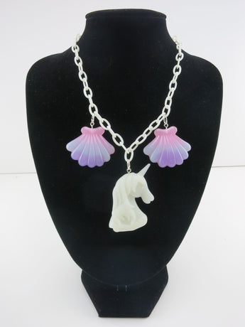Counter Culture Republic - Unicorn Mermaid Shell Necklace